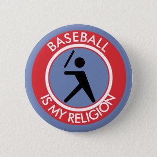BASEBALL ISMY RELIGION 2 INCH ROUND BUTTON