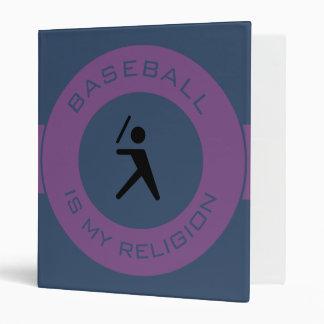 BASEBALL ISMY RELIGION 3 RING BINDERS