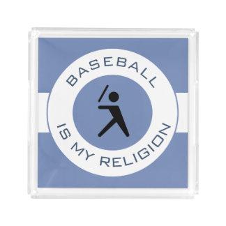 BASEBALL ISMY RELIGION ACRYLIC TRAY