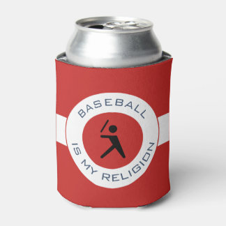 BASEBALL IS MY RELIGION CAN COOLER