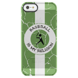 BASEBALL IS MY RELIGION CLEAR iPhone SE/5/5s CASE