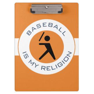 BASEBALL ISMY RELIGION CLIPBOARD
