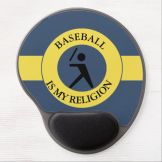 BASEBALL IS MY RELIGION GEL MOUSE PAD