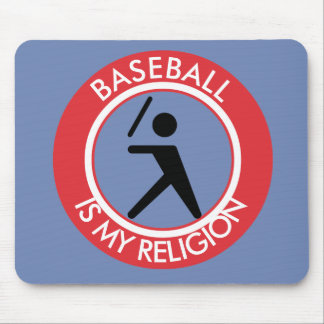 BASEBALL IS MY RELIGION MOUSE PAD