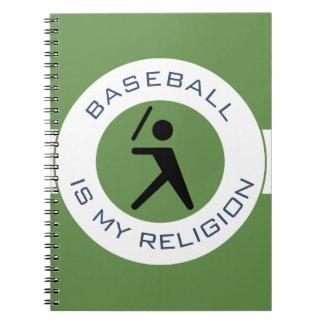 BASEBALL ISMY RELIGION NOTEBOOKS