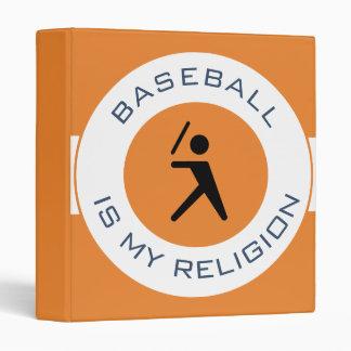 BASEBALL ISMY RELIGION VINYL BINDER