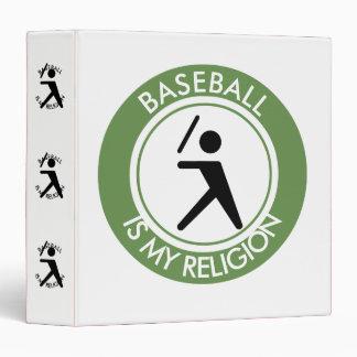 BASEBALL ISMY RELIGION VINYL BINDERS