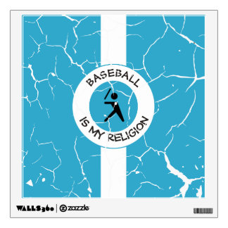 BASEBALL IS MY RELIGION WALL DECAL