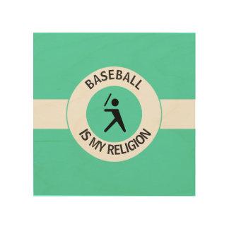 BASEBALL ISMY RELIGION WOOD CANVAS