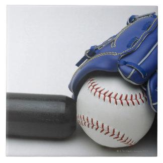 Baseball items ceramic tile