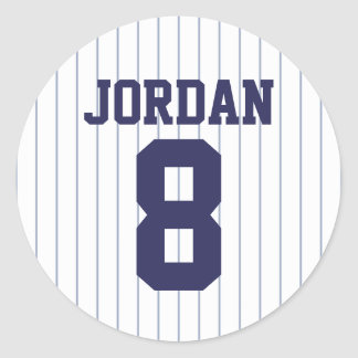 Baseball Jersey - Sports Theme Birthday Party Classic Round Sticker