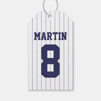 Baseball Jersey - Sports Theme Birthday Party Gift Tags