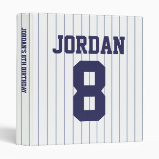 Baseball Jersey - Sports Theme Birthday Party Vinyl Binders