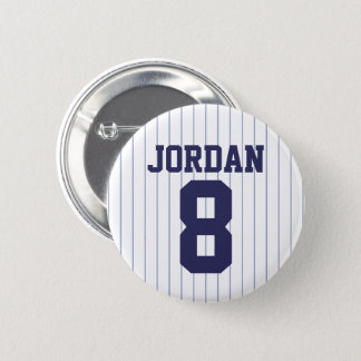 Baseball Jersey with Custom Name and Number 2 Inch Round Button