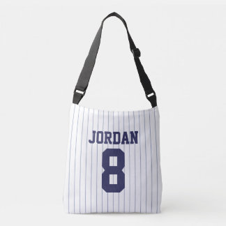 Baseball Jersey with Custom Name and Number Crossbody Bag