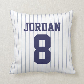 Baseball Jersey with Number Throw Pillow