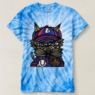 """Baseball Kat"" Men's Cyclone Tie-Dye T-shirt"