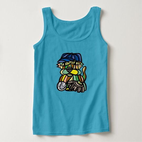 """Baseball Kat"" Women's 631 Art Tank Top"