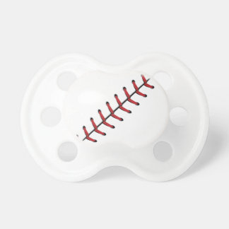 Baseball Lace Background 3 Baby Pacifiers