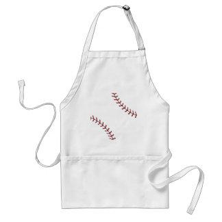 Baseball Lace Background 5 Standard Apron