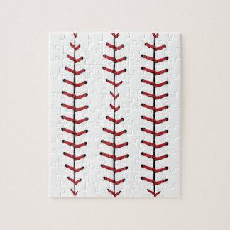 Baseball Lace Background Puzzles