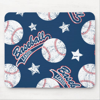 Baseball league mouse pad