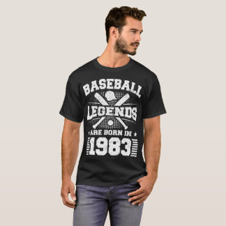baseball legends are born in 1983 T-Shirt
