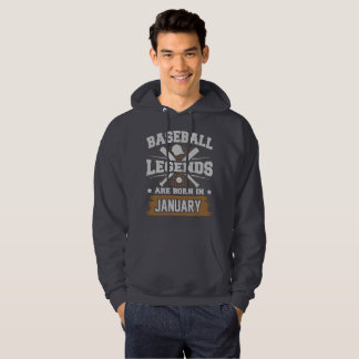 baseball legends are born in january hoodie