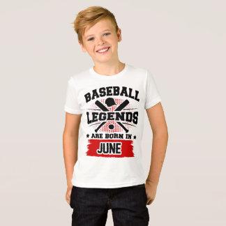 baseball legends are born in june T-Shirt