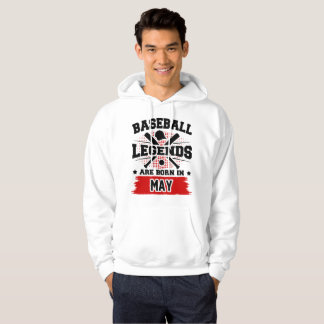 baseball legends are born in may hoodie