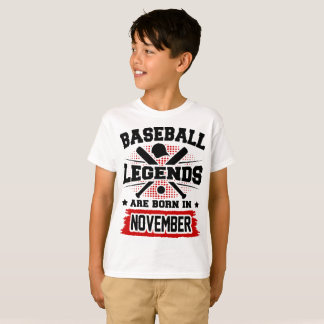baseball legends are born in november T-Shirt