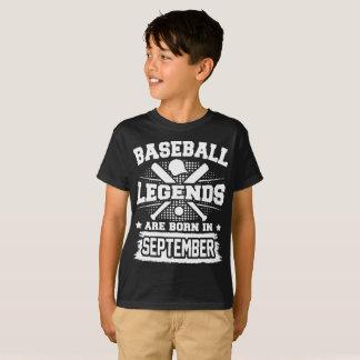 baseball legends are born in september T-Shirt