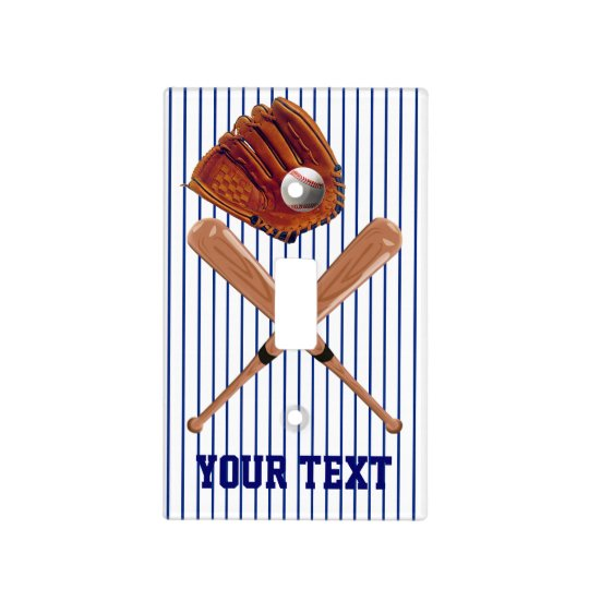 Baseball Light Switch Cover PERSONALIZED
