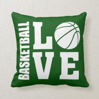 Baseball Love Green Throw Pillow
