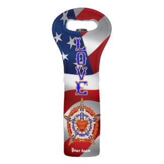 Baseball Love & Patriot 2 Design Import View Hints Wine Bag