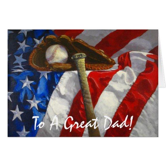 Baseball Lovin' Happy Father's Day Card