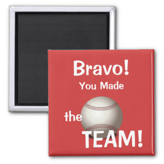 Baseball Made the Team Magnet