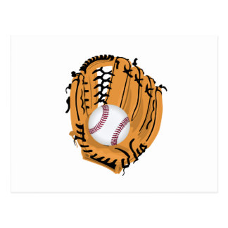 Baseball Mitt and Ball Postcard