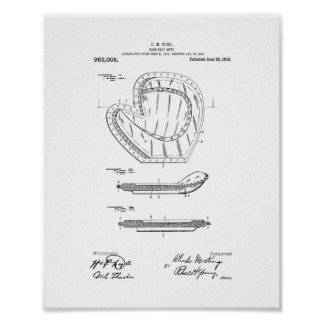Baseball Mitt Patent Poster