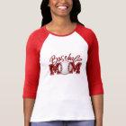 """""""Baseball Mom"""" 3/4 Sleeved T-Shirt"""