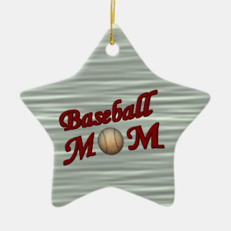 Baseball Mom Cute Customizable Ornament