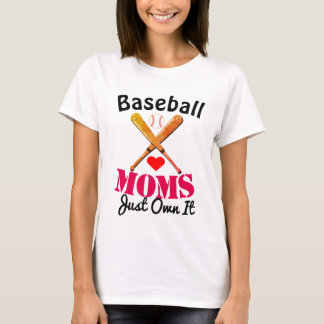 Baseball Mom Fun Quote Design T-Shirt