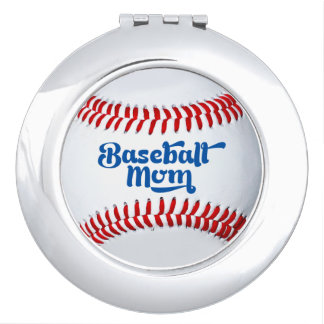 Baseball Mom Gift Idea Compact Mirror