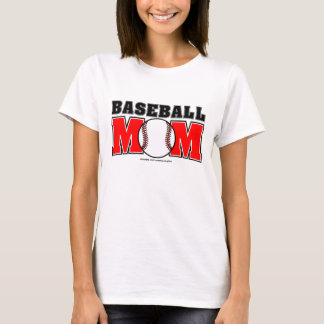 Baseball Mom Ladies Baby Doll (Fitted) T-Shirt