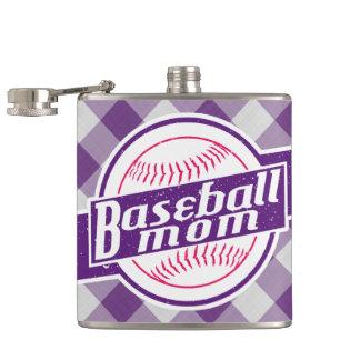 Baseball Mom Stainless Steel Hip Flask
