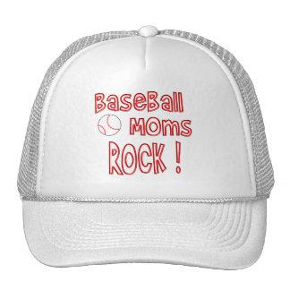 Baseball Moms Rock ! (red) Trucker Hat