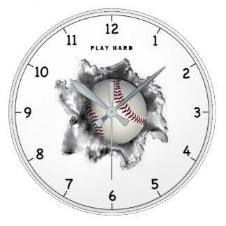 Baseball Motivation Large Clock