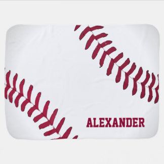 Baseball Name Personalized Baby Blanket