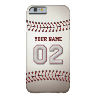 Baseball Number 2 with Your Name - Modern Sporty Barely There iPhone 6 Case