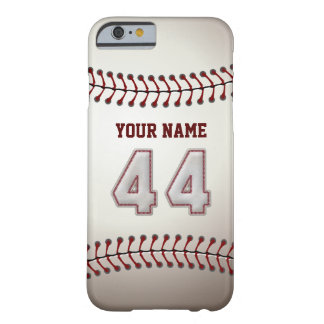 Baseball Number 44 with Your Name - Modern Sporty Barely There iPhone 6 Case